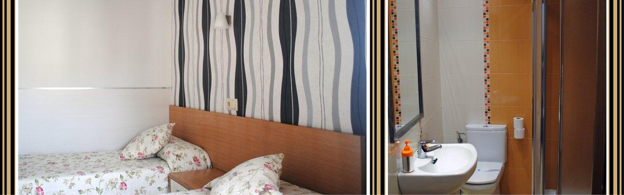 Habitaciones amplias y luminosas con televisión, internet y servicio diario de limpieza